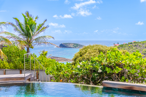 The view from Villa WV BON (Bonbonniere) at St. Barthelemy, Pointe Milou, Pool, 1 Bedrooms, 2 Bathrooms, WiFi, WIMCO Villas