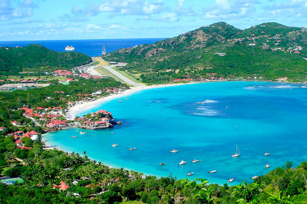 The view from Villa WV BRO (Les Terrasses - BRO) at St. Barthelemy, St. Jean, Pool, 1 Bedrooms, 1 Bathrooms, WiFi, WIMCO Villas