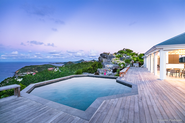 Deck at WIMCO Villa WV BYZ (Byzance) at Colombier, St. Barthelemy