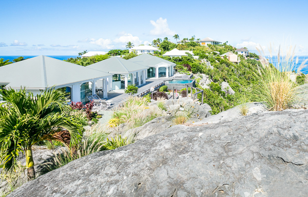 Exterior of WIMCO Villa WV BYZ (Byzance) at Colombier, St. Barthelemy