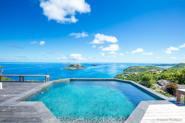 Villa Pool at WIMCO Villa WV BYZ (Byzance) at Colombier, St. Barthelemy