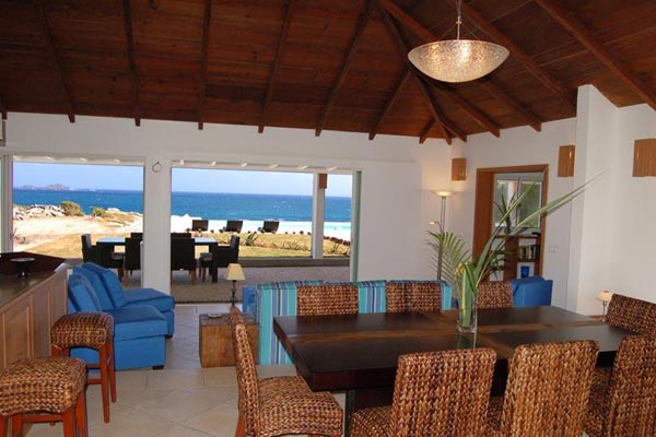 Dining Room at Villa WV CBR (Caribbean Breeze) at St. Barthelemy, Anse des Cayes, Family-Friendly Villa, Pool, 3 Bedrooms, 4 Bathrooms, WiFi, WIMCO Villas
