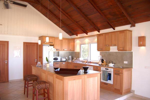 Kitchen at Villa WV CBR (Caribbean Breeze) at St. Barthelemy, Anse des Cayes, Family-Friendly Villa, Pool, 3 Bedrooms, 4 Bathrooms, WiFi, WIMCO Villas