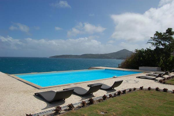 Villa Pool at Villa WV CBR (Caribbean Breeze) at St. Barthelemy, Anse des Cayes, Family-Friendly Villa, Pool, 3 Bedrooms, 4 Bathrooms, WiFi, WIMCO Villas