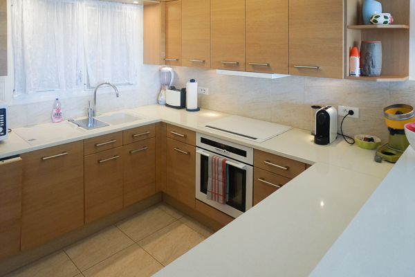 Kitchen at WIMCO Villa WV CCG (Colony Club A2) at Gustavia, St. Barthelemy