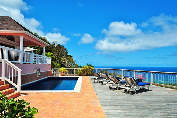 Villa Pool at Villa WV CHO at St. Barthelemy, Vitet, Family-Friendly Villa, Pool, 3 Bedrooms, 3 Bathrooms, WiFi, WIMCO Villas