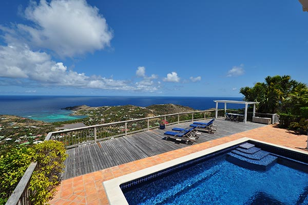 The view from Villa WV CHO at St. Barthelemy, Vitet, Family-Friendly Villa, Pool, 3 Bedrooms, 3 Bathrooms, WiFi, WIMCO Villas