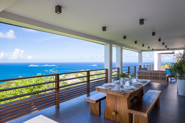 Terrace at Villa WV CLM (Clementine) at St. Barthelemy, Vitet, Family-Friendly Villa, Pool, 3 Bedrooms, 4 Bathrooms, WiFi, WIMCO Villas