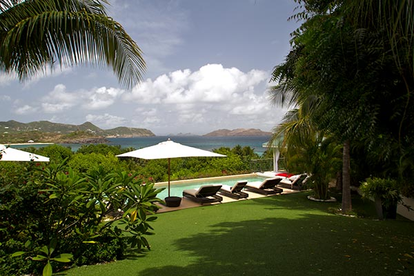 The view from Villa WV CML (Cumulus) at St. Barthelemy, Camaruche, Family-Friendly Villa, Pool, 6 Bedrooms, 6 Bathrooms, WiFi, WIMCO Villas