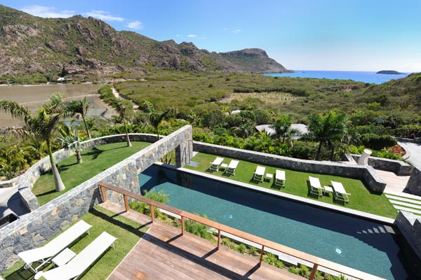 The view from Villa WV DUN (Les Dunes) at St. Barthelemy, Saline, Family-Friendly Villa, Pool, 6 Bedrooms, 6 Bathrooms, WiFi, WIMCO Villas