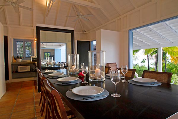 Dining Room at Villa WV FAB (Fabrizia) at St. Barthelemy, Gustavia, Family-Friendly Villa, Pool, 8 Bedrooms, 9 Bathrooms, WiFi, WIMCO Villas