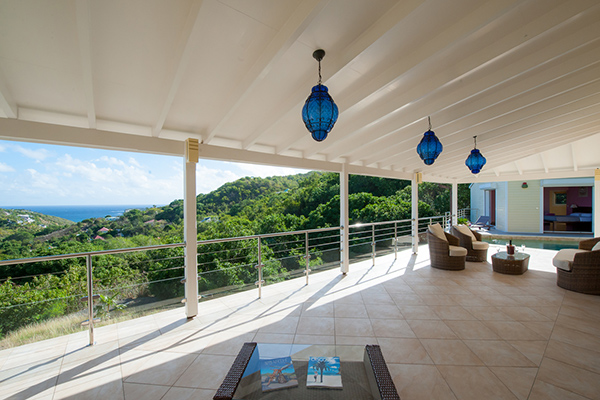 Deck at Villa WV FCE (Florence) at St. Barthelemy, Marigot, Family-Friendly Villa, Pool, 3 Bedrooms, 3 Bathrooms, WiFi, WIMCO Villas