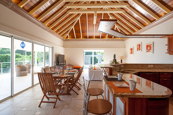 Dining Room at Villa WV FCE (Florence) at St. Barthelemy, Marigot, Family-Friendly Villa, Pool, 3 Bedrooms, 3 Bathrooms, WiFi, WIMCO Villas