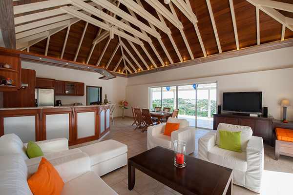 Living Room at Villa WV FCE (Florence) at St. Barthelemy, Marigot, Family-Friendly Villa, Pool, 3 Bedrooms, 3 Bathrooms, WiFi, WIMCO Villas