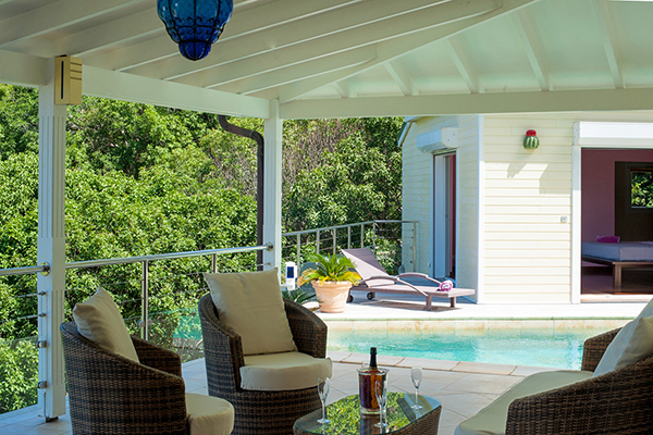 Veranda at Villa WV FCE (Florence) at St. Barthelemy, Marigot, Family-Friendly Villa, Pool, 3 Bedrooms, 3 Bathrooms, WiFi, WIMCO Villas