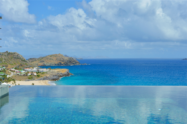 The view from WIMCO Villa WV FLA (Flamands Bay) at Flamands, St. Barthelemy