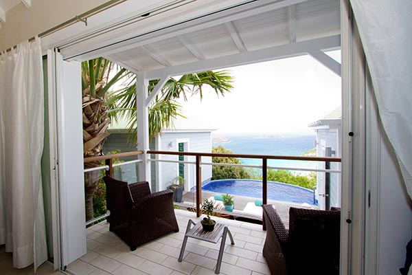 Terrace at Villa WV FLO (Leana) at St. Barthelemy, Colombier, Family-Friendly Villa, Pool, 1 Bedrooms, 1 Bathrooms, WiFi, WIMCO Villas