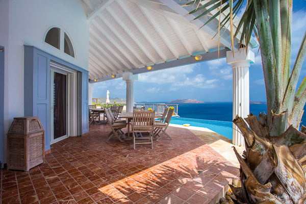 Terrace at Villa WV FRE (Fregate) at St. Barthelemy, Pointe Milou, Family-Friendly Villa, Pool, 4 Bedrooms, 5 Bathrooms, WiFi, WIMCO Villas