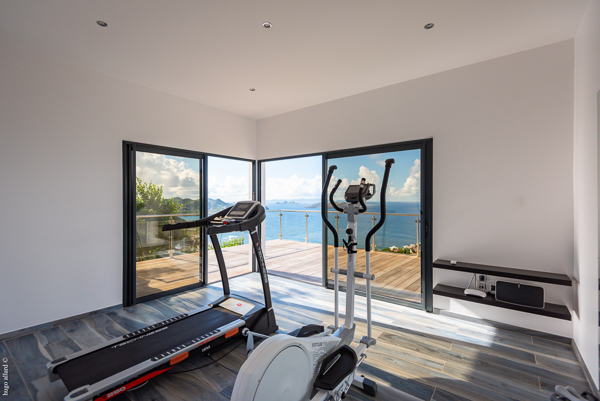 Gym at WIMCO Villa WV GDV (GOLDEN VIEW) at Vitet, St. Barthelemy