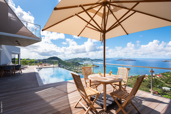 Terrace at WIMCO Villa WV GDV (GOLDEN VIEW) at Vitet, St. Barthelemy