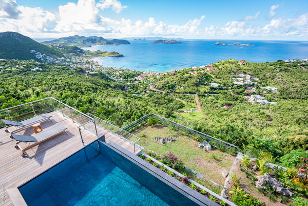The view from WIMCO Villa WV GDV (GOLDEN VIEW) at Vitet, St. Barthelemy