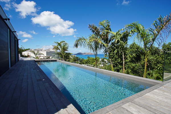 Villa Pool at WIMCO Villa WV GVB (Good Vibrations) at St. Jean, St. Barthelemy