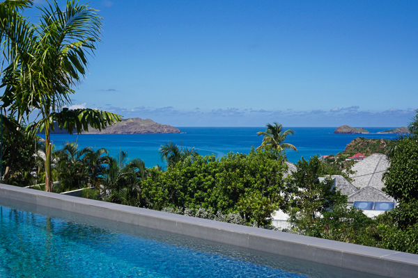 The view from WIMCO Villa WV GVB (Good Vibrations) at St. Jean, St. Barthelemy
