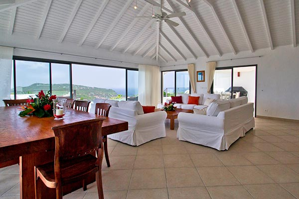 Living Room at Villa WV ING (Mirador) at St. Barthelemy, Colombier, Family-Friendly Villa, Pool, 4 Bedrooms, 4 Bathrooms, WiFi, WIMCO Villas