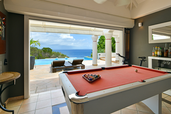 Game Room at Villa WV JBA (Ursula) at St. Barthelemy, Lurin, Family-Friendly Villa, Pool, 2 Bedrooms, 3 Bathrooms, WiFi, WIMCO Villas