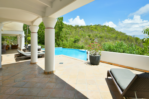Terrace at Villa WV JBA (Ursula) at St. Barthelemy, Lurin, Family-Friendly Villa, Pool, 2 Bedrooms, 3 Bathrooms, WiFi, WIMCO Villas