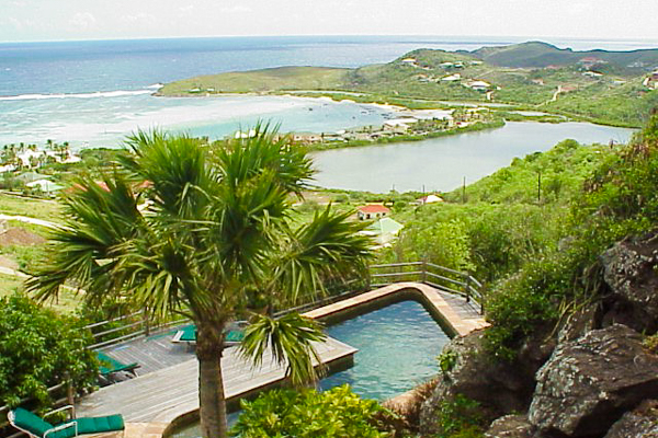 The view from Villa WV KDY (Kyody) at St. Barthelemy, Marigot, Family-Friendly Villa, Pool, 2 Bedrooms, 2 Bathrooms, WiFi, WIMCO Villas
