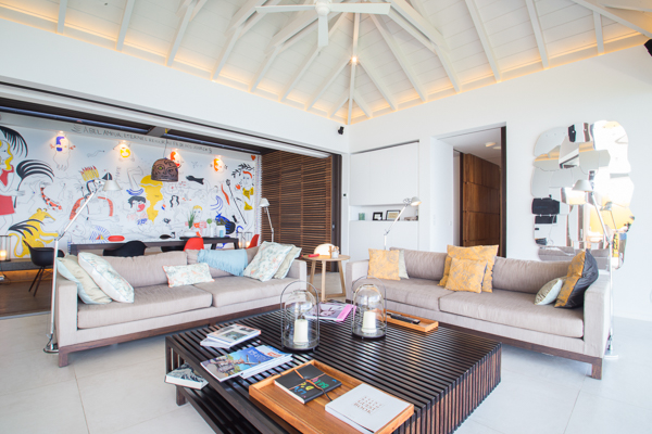 Living Room at Villa WV LOV1 (BelAmour) at St. Barthelemy, Pointe Milou, Family-Friendly Villa, Pool, 1 Bedrooms, 1 Bathrooms, WiFi, WIMCO Villas