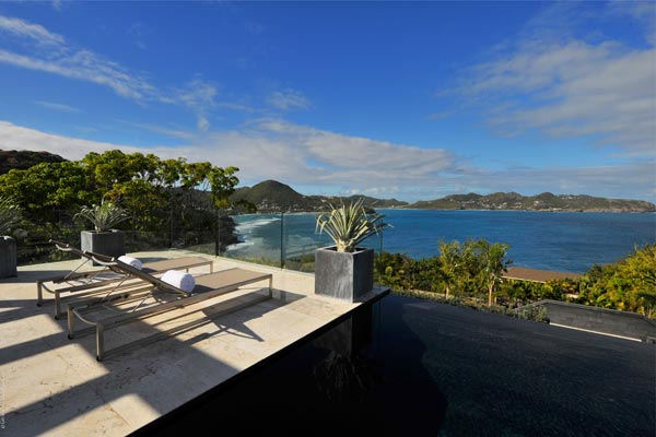 The view from Villa WV LPS (La Petite Sereine) at St. Barthelemy, Pointe Milou, Family-Friendly Villa, Pool, 5 Bedrooms, 5 Bathrooms, WiFi, WIMCO Villas