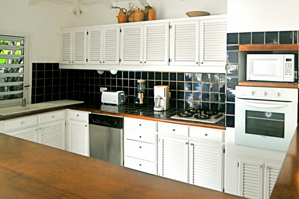 Kitchen at Villa WV MAG (MAG) at St. Barthelemy, Lorient, Pool, 2 Bedrooms, 2 Bathrooms, WiFi, WIMCO Villas
