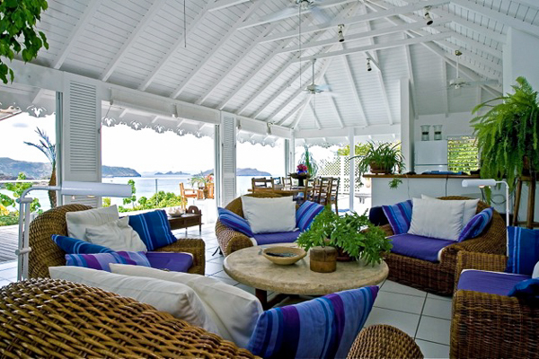 Living Room at Villa WV MAG (MAG) at St. Barthelemy, Lorient, Pool, 2 Bedrooms, 2 Bathrooms, WiFi, WIMCO Villas