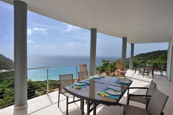 Terrace at Villa WV MBR at St. Barthelemy, Gouverneur, Family-Friendly Villa, Pool, 3 Bedrooms, 3 Bathrooms, WiFi, WIMCO Villas