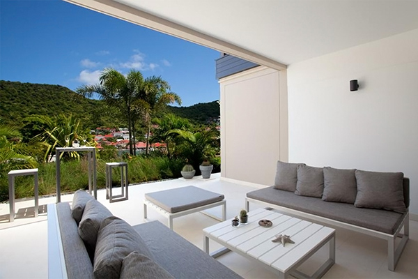 Living Room at Villa WV MIL at St. Barthelemy, Gustavia, 1 Bedrooms, 1 Bathrooms, WiFi, WIMCO Villas