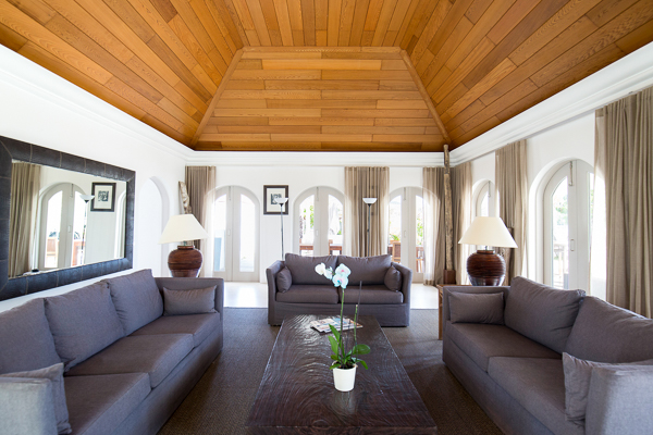 Living Room at WIMCO Villa WV MLN (Le Moulin) at St. Jean Beach, St. Barthelemy