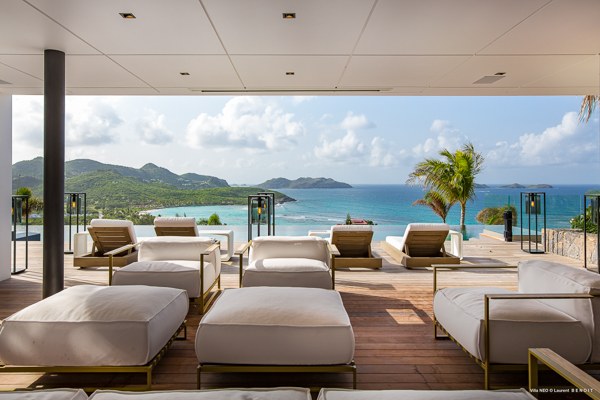 Terrace at Villa WV NEO (Neo) at St. Barthelemy, St. Jean, Family-Friendly Villa, Pool, 6 Bedrooms, 6 Bathrooms, WiFi, WIMCO Villas