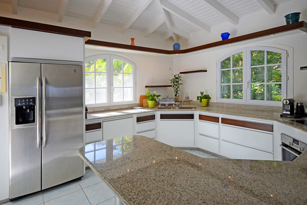 Kitchen at WIMCO Villa WV PTP (Petit Pont) at Lurin, St. Barthelemy