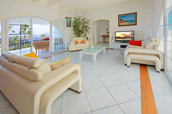 Living Room at WIMCO Villa WV PTP (Petit Pont) at Lurin, St. Barthelemy