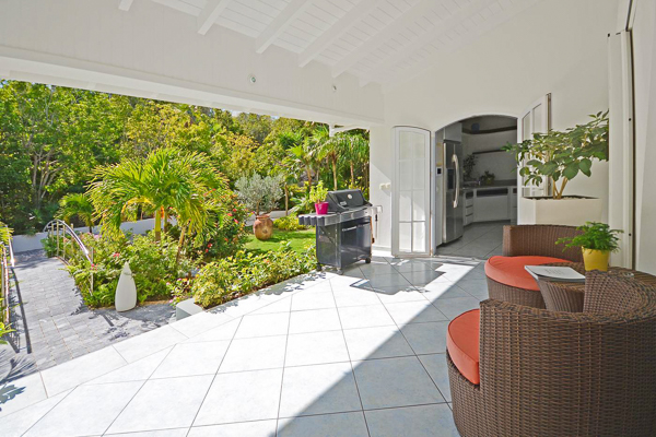 Terrace at WIMCO Villa WV PTP (Petit Pont) at Lurin, St. Barthelemy