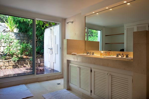 Bathroom at Villa WV REF (Gouverneur View) at St. Barthelemy, Gouverneur, Family-Friendly Villa, Pool, 2 Bedrooms, 2 Bathrooms, WiFi, WIMCO Villas