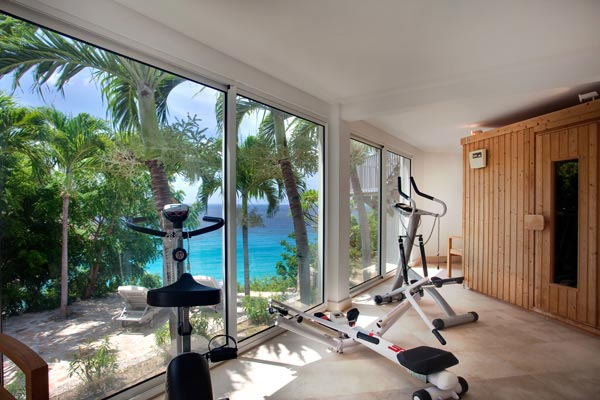 Gym at Villa WV REF (Gouverneur View) at St. Barthelemy, Gouverneur, Family-Friendly Villa, Pool, 2 Bedrooms, 2 Bathrooms, WiFi, WIMCO Villas
