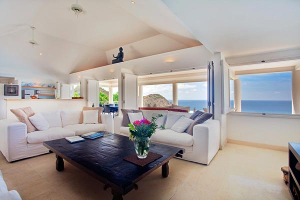 Living Room at Villa WV REF (Gouverneur View) at St. Barthelemy, Gouverneur, Family-Friendly Villa, Pool, 2 Bedrooms, 2 Bathrooms, WiFi, WIMCO Villas