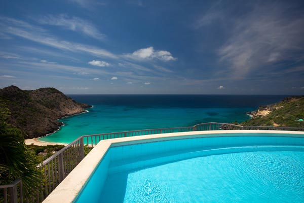 The view from Villa WV REF (Gouverneur View) at St. Barthelemy, Gouverneur, Family-Friendly Villa, Pool, 2 Bedrooms, 2 Bathrooms, WiFi, WIMCO Villas