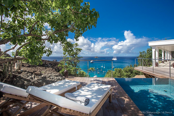 The view from Villa WV SHE (Sheherazade) at St. Barthelemy, Corossol, Family-Friendly Villa, Pool, 1 Bedrooms, 1 Bathrooms, WiFi, WIMCO Villas