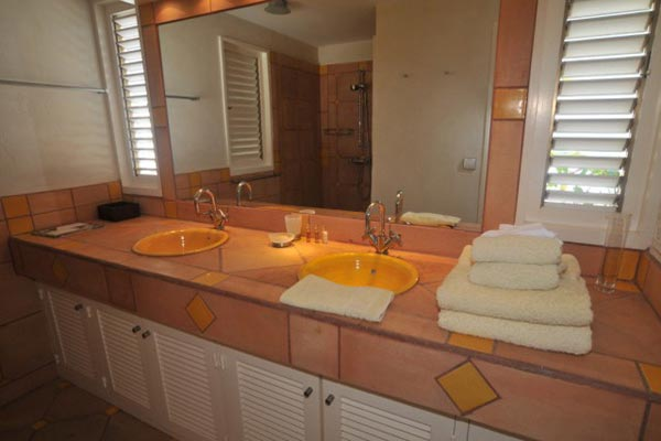 Bathroom at Villa WV THI (La Desirade) at St. Barthelemy, St. Jean, Family-Friendly Villa, Pool, 4 Bedrooms, 4 Bathrooms, WiFi, WIMCO Villas