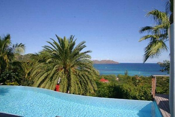 The view from Villa WV THI (La Desirade) at St. Barthelemy, St. Jean, Family-Friendly Villa, Pool, 4 Bedrooms, 4 Bathrooms, WiFi, WIMCO Villas