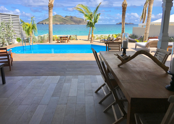 Dining Room at Villa WV VMG (Ecoute Les Vagues) at St. Barthelemy, Flamands Beach, Family-Friendly Villa, Pool, 3 Bedrooms, 2 Bathrooms, WiFi, WIMCO Villas